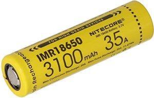 Bateria Nitecore 18650 IMR (Alta Drenagem) 35A 3100 mAh