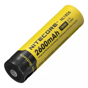 Bateria de Alta Capacidade 18650 Nitecore NL1826 2600 mAh