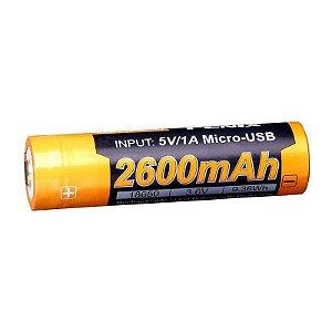 Bateria 18650 Fenix ARB L18 Alta Capacidade 2600 mAh USB