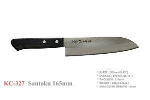 Faca Kanetsune Japonesa Santoku 165mm tala Plywood