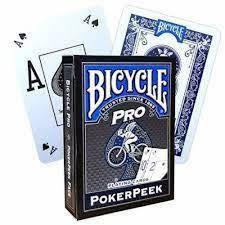 Baralho Premium Bicycle Pro Power Peek Azul Coleção