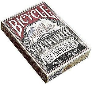 Baralho Premium Bicycle U.S. Presidents Vermelho Coleção