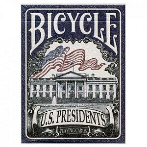Baralho Premium Bicycle U.S. Presidents Azul Coleção