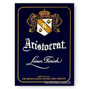 Baralho Premium Aristocrat Vintage 727 Linen Finish Azul