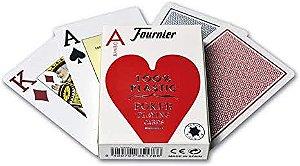 Baralho Premium Fournier Poker 2800 Index Jumbo PRO Vermelho