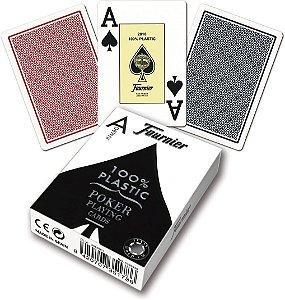 Baralho Premium Fournier Poker 2800 Index Jumbo PRO Preto