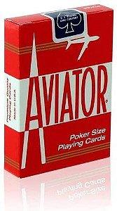 Baralho Premium Aviator Standard Vermelho Coleção