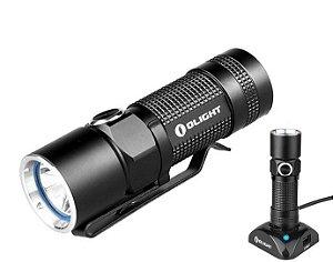 Lanterna Compacta e Potente Led Cree Olight S10R Recarregável na Estação fácil 5 Modos 500 Lumens
