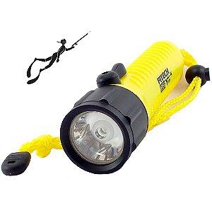 Lanterna Mergulho Fitech F6 Profissional Chave Magnética de 2 Modos Alto e Baixo 400 Lumens -  Foco Concentrado
