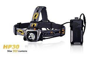 Lanterna de Cabeça Led Cree Fenix HP30 900 Lumens 5 níveis de Luz Profissional - Super Autonomia