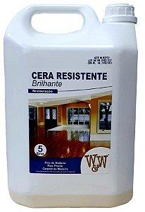 CERA RESISTENTE PISO MADEIRA BRILHANTE 5L W&W