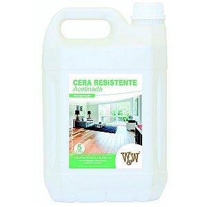 CERA RESISTENTE PISO MADEIRA ACETINADA 5L W&W