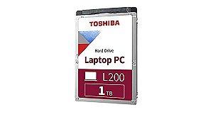 DISCO RIGIDO P/ NOTEBOOK 1TB SATA3 5400RPM 128MB L200 - TOSHIBA
