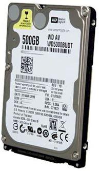 DISCO RIGIDO P/ NOTEBOOK 500GB SATA II 5400RPM WD5000BUDT - WESTERN DIGITAL