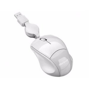MOUSE USB COM CABO RETRATIL MINI ICE PIANO MO155 - MULTILASER
