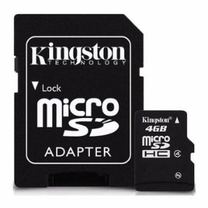 CARTÃO DE MEMORIA KINGSTON SDC4 4GB CLASS 4 - MICROSD C/ADAP. SD