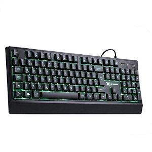 TECLADO USB GAMER LED 7 CORES DEFENDER PRETO GT300 - VINIK