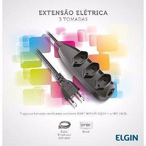 EXTENSÃO ELÉTRICA 3 TOMADAS 3M - ELGIN