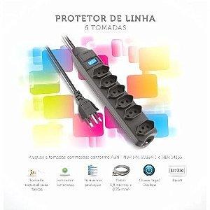 FILTRO DE LINHA 6 TOMADAS 1.5M - ELGIN