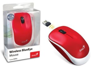 MOUSE WIRELESS TRAVELER BLUEEYE 6000Z VERMELHO - GENIUS