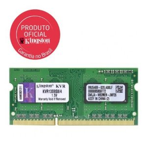 MEMORIA RAM NOTEBOOK DDR3 1333MHZ 4GB KVR13S9S8/4 - KINGSTON