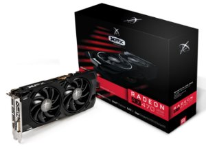 PLACA DE VIDEO RADEON RX470 RS 4GB DDR5 BLACK HSBP RX470P4LFB6 - XFX