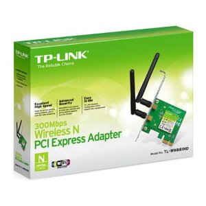 PLACA DE REDE PCI-E WIRELESS 300MBPS TL-WN881ND 2 ANTENAS - TPLINK