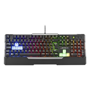 TECLADO USB GAMER WARRIOR SEMI MECANICO COM LED AJUSTÁVEL TC208 - MULTILASER