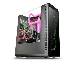 GABINETE GAMER VIEW27 BLACK GREEN CA-1G7-00M1WN-GR - THERMALTAKE