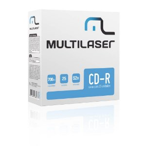 CD-R 52x ENVELOPE CD029 UNIDADE - MULTILASER