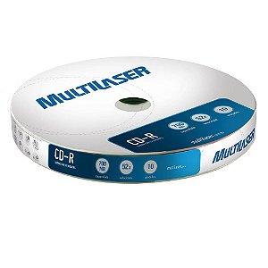 CD-R SHRINK COM 10 PÇS CD027 - MULTILASER