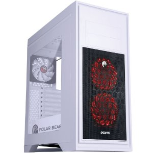 GABINETE GAMER BEAR BRANCO C/ LED RGB PBEARBCO3FCARL - PCYES