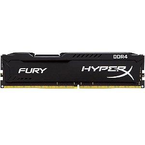 MEMORIA RAM DDR4 8GB 2400MHZ HYPERX FURY BLACK CL15 HX424C15FB2/8 - KINGSTON