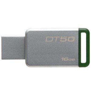 PEN DRIVE DATATRAVELER 16GB USB 3.1 DT50/16GB PRATA/VERDE - KINGSTON