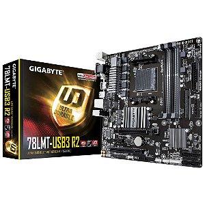 PLACA MÃE AM3+ GA-78LMT-USB3 R2 - GIGABYTE