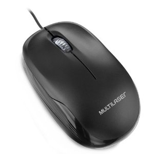 MOUSE USB OPTICO PRETO 1200DPI MO255 - MULTILASER