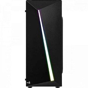 GABINETE GAMER SHARD ACRILICO RGB PRETO - AEROCOOL