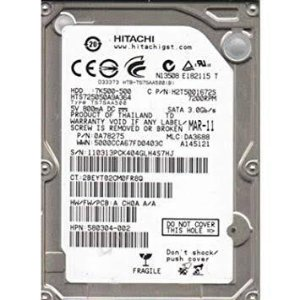 DISCO RIGIDO P/ NOTEBOOK 500GB SATA II 5400RPM HCC5450A7E380 - HITACHI