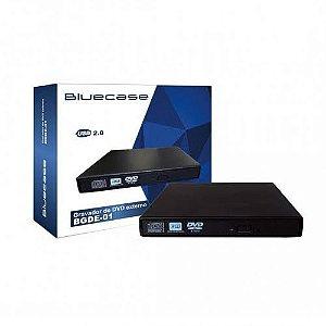 LEITORA/GRAVADORA DE CD/DVD SLIM EXTERNA USB BGDE01CASE - BLUECASE