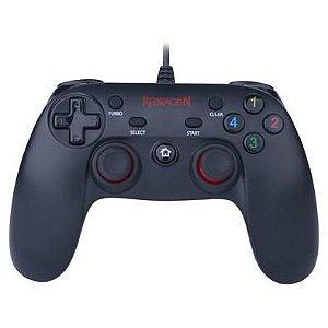 CONTROLE PARA PC/PS3 COM FIO SATURN PRETO/VERMELHO - REDRAGON