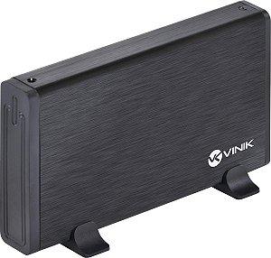 CASE PARA HD 3,5 EXTERNA USB 3.0 PRETA - VINIK