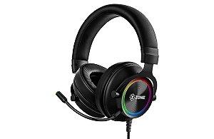HEADSET GAMER GHS-01 RGB P2/P3 PRETO COM SUPORTE - XZONE