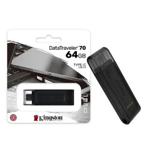 PEN DRIVE DATATRAVELER 64GB USB-C 3.2 DT70-64GB PRETO - KINGSTON