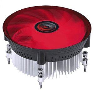 AIR COOLER PARA CPU NOTUS I300 100W VERMELHO INTEL - PCYES