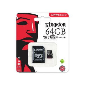 CARTÃO DE MEMORIA 64GB C10 MICROSD 64GB 100MB/S CANVAS SEL PLUS - KINGSTON