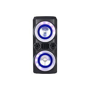 CAIXA DE SOM AMPLIFICADA 300W 2X6 LED PRETA SP379 - MULTILASER