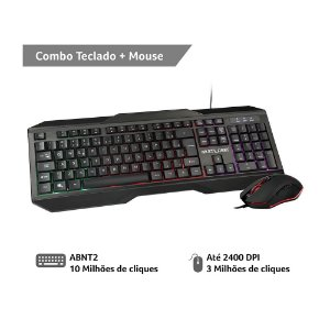 KIT TECLADO E MOUSE GAMER RGB RAINBOW TC239 - MULTILASER