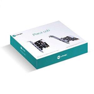 PLACA PCI-E 1X COM 4 USB 3.0 PU30-4 - VINIK