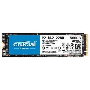 SSD 500GB M.2 NVME P2 CT500P2SSD8 - CRUCIAL