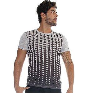 Camiseta Lajot Cinza e Preto